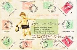 BELGIUM    CARD  USED 1908  HASSELT ? - 1893-1907 Coat Of Arms