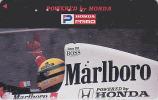 Télécarte Japon - Voiture Sport Formule 1 - AYRTON SENNA  AS-J-125 - F1 Japan Car Phonecard / Honda Marlboro Brasil - Automobili