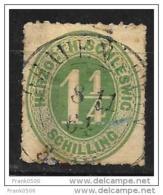 German State 1864, Schleswig-Holstein, 1 1/4s, Used - Schleswig-Holstein