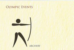 Picture Post Card, Archery , Olympic Events Post Card, By India Post, As Per Scan - Tir à L'Arc