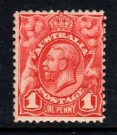 """Australia  1913     """"1d KGV  Engraved - Pale Rose Red""""    MNH   (**) - 1913-36 George V : Hoofden"""