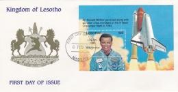Lesotho FDC 1993 Challenger Souvenir Sheet (L78-1C) - Lesotho (1966-...)