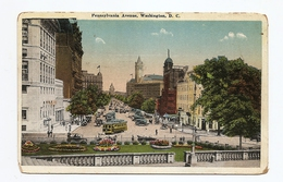 Postcard WASHINGTON DC Pennsylvania Ave, State, War, Navy Bldg 1920s Colored - Colombia