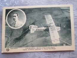CASABLANCA . SERVICE POSTAL FRANCE MAROC . LATECOERE . PILOTE DOERFLINGER - Casablanca