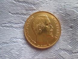 20 FRANCS NAPOLEON BONAPARTE OR. 1852 TB - Or