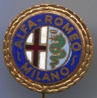 ALFA ROMEO - Car Auto, Automotive, Enamel, Vintage Pin, Badge - Alfa Romeo