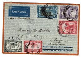 C  PA 2/7/8 + Postes  Lettres Obl Léopoldville Vers Liège