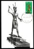 EGYPT / MAXICARD / MAXIMUM / EGYPTOLOGY / SMALL STATUE IN GOLD OF THE KING TUT ANKH AMUN - Egypt