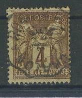 """VEND BEAU TIMBRE DE FRANCE N°88 , CACHET CONVOYEUR """"CHALON A ROANNE"""" !!!! - 1876-1898 Sage (Type II)"""