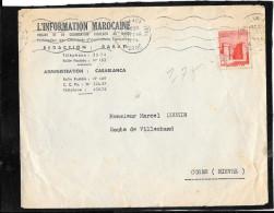 FLAMME CONTINUE  CASABLANCA  MAROC - Marokko (1891-1956)