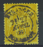 """VEND BEAU TIMBRE DE FRANCE N°92 , CACHET """"BORDEAUX - ETRANGER"""" !!!! - 1876-1898 Sage (Type II)"""