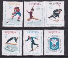 Winter 1968 Grenoble Albania Set MNH - Winter 1968: Grenoble