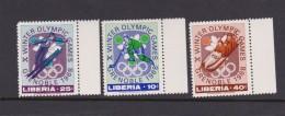 Winter 1968 Grenoble Liberia Set MNH - Winter 1968: Grenoble