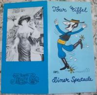 DINER  SPECTACLE-TOUR EIFFEL,PEPSI COLA - Dépliants Touristiques