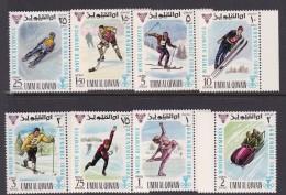 Winter 1968 Grenoble Umm Al Qiwain Olympic Games Set MNH - Winter 1968: Grenoble