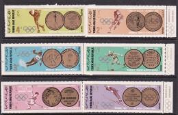 Winter 1968 Grenoble Yemen Olympic Winter Games Set MNH - Winter 1968: Grenoble