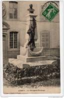 70 JUSSEY Haute Saone, Statue Bontemps, Cachet A4 1912, Semeuse 5c Vert  N°137, - Autres Communes