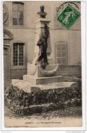 70 JUSSEY Haute Saone, Statue Bontemps, Cachet A4 1912, Semeuse 5c Vert  N°137, - France