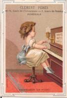 CHROMO CLEMENT FRERES A BORDEAUX PROFESSEUR DE PIANO EDITION BOGNARD - Autres