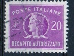 PIA - ITA - Specializzazione : 1955 : Francobollo Per Recapito Autorizzato  £ 20 - (SAS 12/I  - CAR 6) - 6. 1946-.. Repubblica