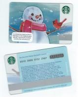 Starbucks Card - Autriche/Austria - Snowman - 0310 Mint Pin - Gift Cards