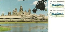CAMBODGE  CAMBODIA  CAMBOGIA  SIEM REAP  Angkor Wat  Nice Stamps  Airplane - Cambogia