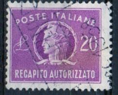 PIA - ITA - Specializzazione : 1956 : Francobollo Per Recapito Autorizzato  £ 20 - (SAS 12/II  - CAR 7) - 6. 1946-.. Repubblica