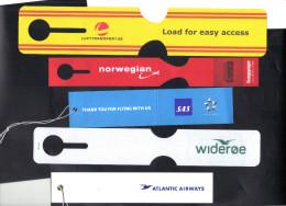 Eiquettes Bagages Modernes . SAS ,Atlantic ,Norvegian , Wideroe , Lufttransport . - Étiquettes à Bagages