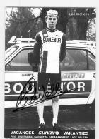 Leo WELLENS , Autographe Manuscrit, Dédicace . 2 Scans. Cyclisme.  Boule D'Or - Ciclismo