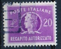 PIA - ITA - Specializzazione : 1952 : Francobollo Per Recapito Autorizzato £ 20 - (SAS 11/I  - CAR 5 ) - 6. 1946-.. Repubblica