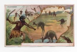 CHROMO Denin Peinture Vitrerie Paris Pays Australie Boomerang Aborigènes Kangourous - Chromos
