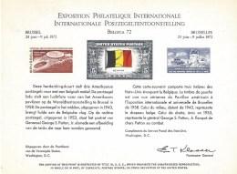 Herdenkingskaart Belgica 72 - Cartes Souvenir