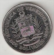 Venezuela 2 Bolivar  1990  Km 43a1 Small Letters   Unc - Venezuela