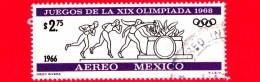 MESSICO - Usato - 1966 - Giochi Olimpici Di Messico 1968 - XIX Olimpiade - 2.75 P.aerea - Messico