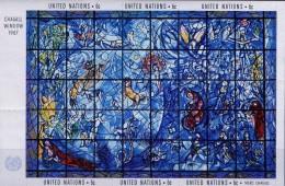 PIA - ONN - 1967 - Vetrata DiMarc Chagall. - (Yv Bf 4) - Vetri & Vetrate