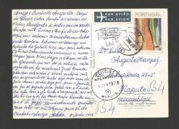 POSTCARD AIR MAIL PORTUGAL ALENTEJO ELVAS To AFRICA AFRIQUE MOZAMBIQUE MOÇAMBIQUE Year 1978 - Poste Aérienne