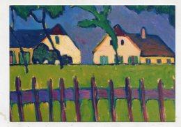 PAINTING - AK 276186 Gabriele Münter - Häuser Mit Holzzaun - Paintings