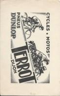 Buvard/Moto/Pneus Dunlop/ TERROT/  DIJON/ Vers 1935-1950   BUV273bis - Bikes & Mopeds