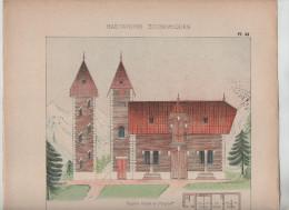 Architecture Habitations Economiques Dépendances Maison Plaisance écurie étable Pigeonnier Vial Architecte  1910 Rare - Architecture