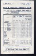 (Landes, Gironde) Document Sur La Poste Aérienne (horaires) 1936 (PPP3715) - Europe