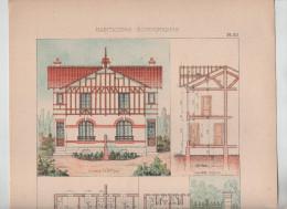 Architecture Habitations Economiques Pavillon économique Creil Pinteux Architecte  1910 Rare - Architecture