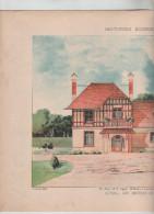 Architecture Habitations Economiques Cottage Environs De Paris Lecocq Architecte 1910 Rare - Architecture