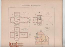 Architecture Habitations Economiques Cottage Environs De Paris Détails De Construction Lecocq Architecte 1910 Rare - Architecture