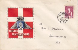 Denmark THISTED FILATELISTKLUB, THISTED 1945 Cover Brief Red Cross Rotes Kreuz Croix Rouge Cruz Roja Hühnengrab Cachet - 1913-47 (Christian X)