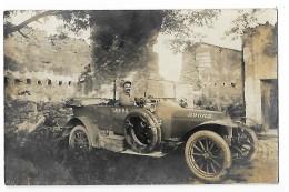 VIEILLE VOITURE Conduite Par Un Militaire En 1916   - CARTE PHOTO - -    -  L 1 - France