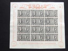 Schweiz 419 Block 9 Oo/used, 100 Jahre Schweizerische Briefmarken, 25 Jahre Schweizerische Nationalspende - Blocks & Sheetlets & Panes