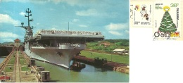 PANAMA  Panama Canal  The U.S. Aircraft Carrier Valley Forge  Nice Stamps - Panama