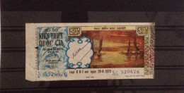 Lotterie / Lottery Of South Vietnam Viet Nam Open On 28 Aug 1973 : Fishing Industry - Lottery Tickets