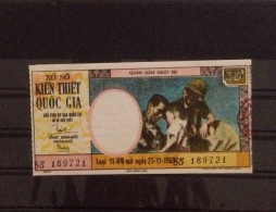 Lotterie / Lottery Of South Vietnam Viet Nam Open On 25 Nov 1969 : Soldier - Lottery Tickets