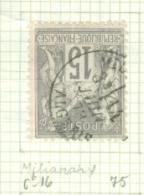 FRANCE - CAD MILIANAH Cachet 16 (CATALOGUE MATHIEU)  BUREAU D´ALGER - 1877-1920: Période Semi Moderne